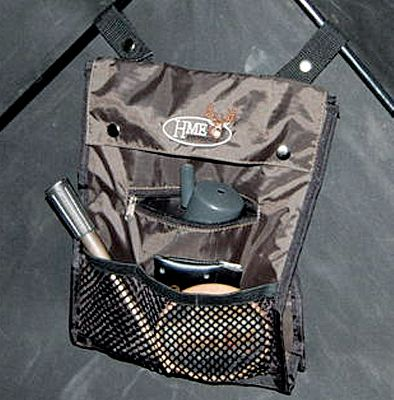 Hunting Keep essentials within easy reach inside the 8 x 10 pleated bag. Web straps quickly attach to cross rails of blind. Imported. - $4.88