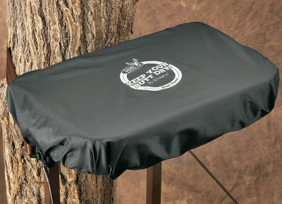 Hunting Protect your treestand seat with this waterproof cover and you're assured of a dry seat every time you go hunting, no matter the weather conditions. The seat cover is made of heavy-duty, waterproof ripstop vinyl and has an elastic drawcord lock for a custom fit. Just position the seat cover over the seat and cinch it tight. One size fits all. - $4.88