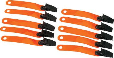 Hunting Made of highly reflective and durable vinyl. Heavy-duty clip provides years of dependable use. Large enough to see day or night. Per 10. Color: Orange. Type: Trail Markers. - $4.99