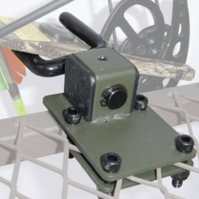 Hunting Engineered to hold your bow at the ready in a platform stand, this vinyl-coated, fork-shaped holder does so without damaging the bow limbs. It attaches easily to nearly any stand platform with included hardware. - $8.88