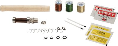 Flyfishing Kits include a premium walnut reel seat (8-wt. Fighting-Butt Kit comes with an aluminum reel seat), hard chrome double-foot snake guides, winding thread and everything else you need to complete your rod-building project. Blank not included. - $29.88