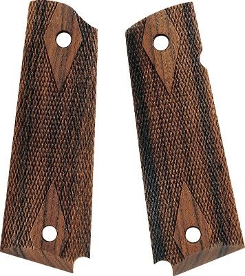 Add a custom touch to your pistol with these exotic hardwood grips. CNC machined to exacting tolerances, these grips fit your pistol just like stock ones, ensuring continued performance. Crisp checkering provides a sure grip wet or dry. - $39.99