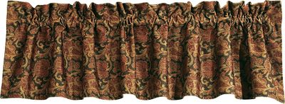 Entertainment Give your bedroom arrangement some charm with a rustic colorway of timeworn reds, greens, browns and tans. Valance matches the Austin bedding collection. 100% polyester. Imported.Dimensions: 18H x 84W. - $49.99