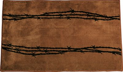 Entertainment Give your bathroom the Western-themed touch of barbwire. 100% polyester, rubber-backed mat. Imported.Dimensions: 36L x 24W. - $39.99