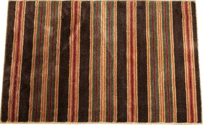 Entertainment Spruce up your bathroom with this lodge-worthy rug. Equipped with classic colors and softness, this rubber-backed bathmat will please your feet. Made of 100% polyester. Imported. 36L x 24W. Patterns: Striped, Plaid. Color: Striped. Type: Bath Mats & Rugs. - $35.99