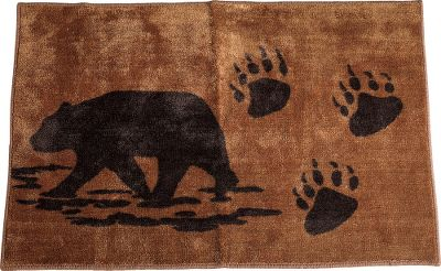 Entertainment Spruce up your bathroom with this lodge-worthy rug. Equipped with classic colors and an outdoor-inspired pattern, this rubber-backed bathmat will be a foot-pleasing accommodation. Made of 100% polyester. Imported. Dimensions: 36L x 24W. - $34.99