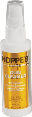 Hoppes Elite Gun Cleaner removes fouling from the pores in your firearm. This all-purpose cleaner is super-penetrating and non-toxic. Size: 4-oz. - $11.99
