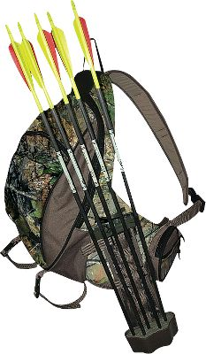 Hunting A bandoleer-style pack with 10 compartments. Custom-molded back and straps ensure comfort. Drop-down shelf for quick access to gear. Removable five-arrow Multiple Attachment Quiver. Tree strap. Hydration compatible. Made in USA. Capacity: 1,200 cu. in. Camo pattern: Realtree APG. Color: Realtree Apg Hd. Type: Packs with Quivers. - $53.88
