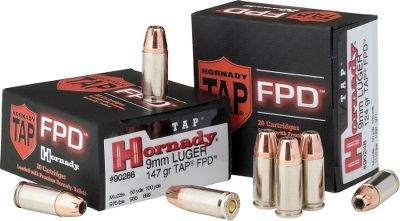 Now the ammunition technology law-enforcement personnel and elite military units trust their lives to is available to the civilian market. These rounds are loaded with the same bullets used in Hornady's TAP Law Enforcement ammunition. The cases are polished nickel that improves feeding in all firearms and prevents corrosion. Propellants produce nearly zero muzzle flash, so night vision isn't affected at critical moments. Color: Nickel. - $24.99