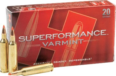 Hunting Speed kills! Superformance Varmint ammunition far surpasses current varmint-cartridge efficiency and performance. It delivers muzzle-velocity increases of 100 to 200 fps from any gun, along with increased accuracy and range, flatter trajectories, less wind drift, and devastating terminal results. Polymer-tipped V-MAX bullets deliver match-grade accuracy and have a swaged lead core that results in rapid fragmentation. Safe to use in all modern firearms, including semiautomatics. Made in USA. Type: Centerfire Rifle. - $21.99