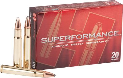 Hunting Supercharge the performance of your favorite hunting rifle! Hornady has developed an innovative powder blend to gain up to an additional 200 fps from every Superformance caliber. The result is flatter trajectory, reduced wind drift, superior accuracy and more energy delivered on target all with no increase in recoil or muzzleblast. Capitalize on the new propellant blend with the field-proven Hornady InterLock bullets for maximum penetration and controlled expansion. Enjoy this new breed of top-of-the-line ammo without the top-shelf price. Per 20. - $33.99