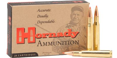Hunting Perfect for beginning hunters and young or recoil-sensitive shooters, these rounds offer 26% to 43% less recoil than standard ammo with the deadly on-game performance you expect from Hornady. Each customized round features a carefully selected bullet weight and propellant blend for optimal on-game performance and velocity with reduced recoil. SST and Interlock bullets deliver ultraflat trajectories, rapid expansion and deep penetration. And since its Hornady Custom Ammo, you know every round is made with only top-quality components and precision-loaded to exacting tolerances. Per 20. Made in USA. Type: Centerfire Rifle Ammunition. - $17.99