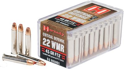 Turn your short-barreled .22 Win. Mag. Revolver into a viable personal-defense firearm. This addition to Hornadys Critical Defense line is optimized for short-barreled revolvers. Flex Tip technology delivers controlled expansion and each 45-gr. FTX bullet provides terminal performance. Silver nickel-plated cases are visible in low-light situations. Per 50. Color: Silver. - $14.99