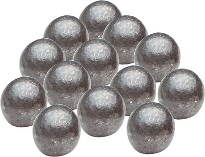 Perfectly shaped by a cold-forming process for consistent diameter and weight, each of these round balls is coated to reduce the hazards of lead oxidation. In addition, youll find no mould-parting lines, air pocket voids or sprue marks that could impede accuracy. Sold per 100. Color: Black. - $12.99