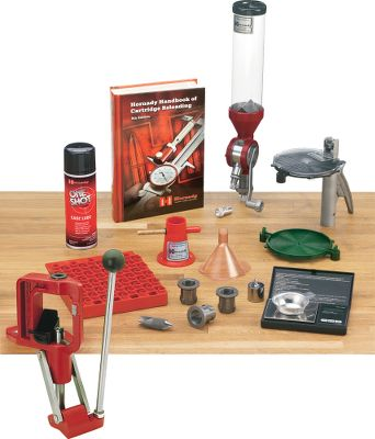 Features a patented quick-change bushing system that lets you change dies with a simple flick of the wrist. With Lock-N-Load technology in your reloading press, you can stop loading, change dies, and start loading another caliber in seconds. If you load more than one caliber, Lock-N-Load will dramatically speed up your reloading efforts. To change calibers, simply twist the die counterclockwise, remove die and insert your next preset Lock-N-Load die and bushing. Because they remain locked in their Lock-N-Load Bushings, your dies stay exactly as you set them. The positive locking action of the Lock-N-Load Bushings hold the dies in rock solid, perfect alignment. The combination of six locking lugs and the close tolerance of the tooling firmly grip the die bushing in place in the press for maximum rigidity and accuracy in reloading. Rubber O-rings on the die bushings give you a better feel when the die is inserted and holds the die tight against the locking lugs to prevent accidental loosening. Once you try Lock-N-Load from Hornady, youll never want to go back to your old system. Its the reloading press that pioneered quick die changeovers. The Lock-N-Load bushing system allows for super-fast bushing release, letting you change dies and set up quickly. Change the dies, adjust, tighten the lock ring and youre ready. Once dies are set for a specific load, this system lets you remove and reinstall dies in seconds. An overbuilt, professional-grade, cast-aluminum frame and linkage ensure durability and lasting service. Features include a Primer Catcher and three Lock-N-Load Die Bushings. The large, easy-grip, ball-style handle is long for increased leverage while reducing effort. The Power-Pac linkage and solid-steel arms multiply leverage applied to make sizing large cases easier. Stability and rigidity are assured by the high-strength alloy frame, and its unique angle gives you outstanding visibility and easy access to the cartrid - $319.99