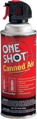 Entertainment A quick way to remove dust, metal shavings and other light debris from your reloading table and press. Can also be used to blow light debris from firearm actions. Available: 10-oz. aersol can. - $8.99