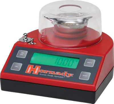 With a maximum capacity of 1,500 grains, you can precisely weigh powder, bullets, cases, cartridges and more. Large, easy-to-read LCD shows weight to the nearest 1/10 grain. Includes two calibration weights, an AC adapter, a 220-volt adapter and a metal powder pan. - $94.99