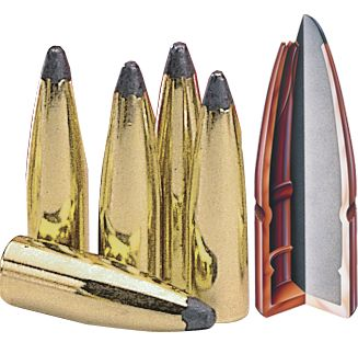 Hunting These .270-cal. .277 diameter bullets come in a range of models to fit your needs. Hornadys InterBond bullet sports a proprietary bonding process and an expansion control ring that locks the jacket and core together in a single, destructive mass that retains 90% of its weight at impact. The 130-grain, 140-grain and 150-grain models have the exclusive InterLock ring to ensure perfect expansion without jacket/core separation, making an excellent hunting bullet. The 130-grain Hornady SST (Super Shock Tipped) bullets have a polymer tip and boattail design to a higher ballistic coefficient for enhanced long-range accuracy. Per 100. - $26.99