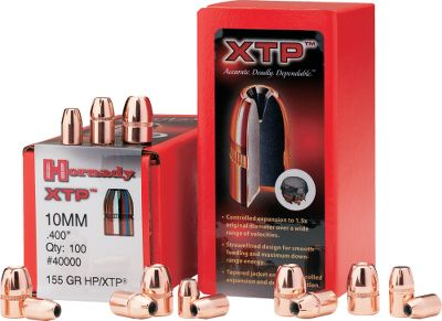 Hunting Originally designed for hunting, self-defense and law enforcement applications, the XTP pistol bullet demonstrates the kind of accuracy that led many competition shooters to adopt it. The pure stopping power has truly built its world-class reputation. Specifically designed to expand reliably to 1-1/2 times its original diameter at a wide range of handgun velocities to deliver deep, terminal penetration every time. .32 caliber, .312 diameter. Per 100. - $18.99