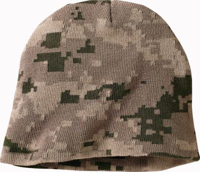 Hunting Cabelas-exclusive beanie that keeps you warm in the woods. Unique 70/30 cotton/bamboo blend is noticeably softer than traditional materials. Its also naturally mildew-, bacteria- and fungus-resistant. Quick-drying, moisture-wicking performance. One size fits most. Imported. Camo pattern: Digital. - $5.88