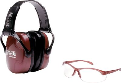 Combo Shooting Kit includes protective folding earmuffs and one pair of clear eyewear. Eyewear has a sporty, lightweight frame with anti-fog lenses great for indoors and outdoors, and a nonslip rubber nose bridge. Earmuffs are adjustable with soft, comfortable cushions and have a noise reduction rating of 25. Perfect for beginners and seasoned shooters. Color: Clear. Gender: Female. Age Group: Kids. - $29.99