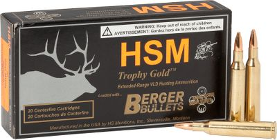 Hunting Loaded with premium Berger Varmint bullets, which are field-proven to provide exceptional accuracy and maximum expansion on both predators and smaller-sized varmints. Featuring J4 precision jackets that are pinch trimmed to produce a thin bullet tip that expands rapidly on contact. Loaded with the best components and technologically advanced powders to produce consistently accurate and reliable ammunition for the precision-driven varmint hunter. Made in the USA. 20 rounds per box. Color: Gold. Type: Centerfire Rifle Ammunition. - $23.88