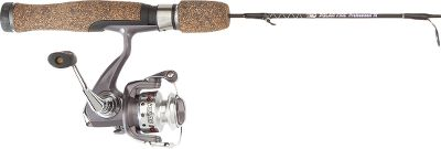 Fishing An excellent deal, this ice rod and reel combo is a fantastic way to get into the sport of ice fishing without breaking the bank. The high-carbon custom tapered blank has a fast-action tip and a special crushed cork and rubber handle with a stainless steel hood. The Polar Fire reel has four-ball-bearing operation with infinite anti-reverse and subzero lubricant that wont bind up when the temperatures are below freezing. Front drag. - $29.99