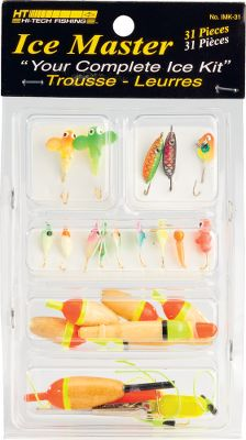 Fishing All the tackle you need to target multiple species of game fish. 31-piece kit includes lures, bobbers, depth weights and specialized jigs and spoons. - $12.99