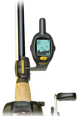 "Fishing The RF25 Rod Mount with RSS secures to your rod for convenient viewing. Now includes date, time and alarm. Accommodates rod sizes from .35"" to .50"" diameter. 48V x 32H-pixel 1-1/4"" diagonal LCD. 90 sonar coverage. 100-ft. depth/150-ft. range. - $79.99"