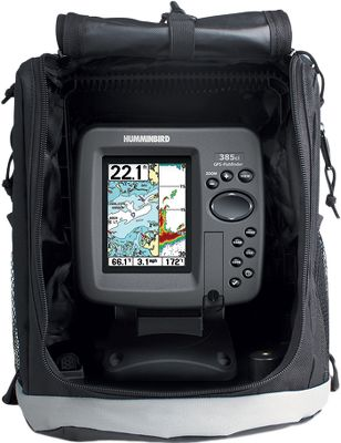 Fishing The 300 Series brings together LCD readability and flasher reliability. It's an excellent choice for ice-fishermen, and it easily doubles as a portable small-boat unit. Complete with a suction-cup transducer, gel-cell battery, charger and soft-sided case with tackle storage. Tilt-and-swivel quick-disconnect bracket. - $399.88