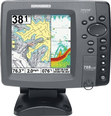 "Fishing Ethernet port shares sonar and GPS information between two units Compatible with detailed Lakemaster and Navionics digital maps High-definition 640V x 640H, 5"" color TFT display 4,000-watt peak-to-peak maximum power output Internal 50-channel GPS Transducer not included - $649.99"