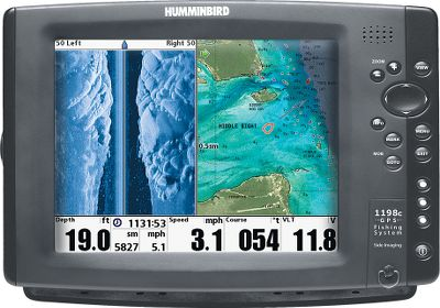 "Fishing Ethernet port shares sonar and GPS data between two units 10.4"", 4:3 LCD screen 600 x 800-pixel display 256-color TFT display SwitchFire sonar technology shows amazing details Temperature sensor and GPS included High-definition Side-Imaging transducer scans 150 feet on each side DualBeam Plus 20/60 transducer reaches to 1,500 feet 50-channel WAAS-enabled GPS Built-in UniMap - $1,949.88"
