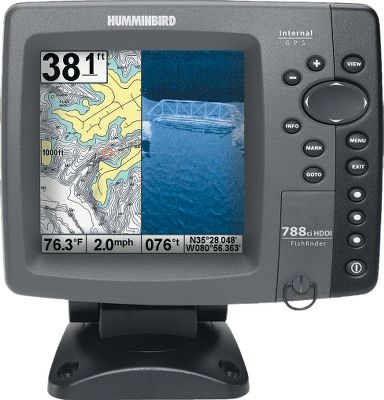 Fishing Maximize your angling experience with the 788ci HD DI sonar/GPS combo. It features a best-in-class high-definition display, DualBeam Plus and Down Imaging sonar with 4,000 watts of peak-to-peak power output, GPS chart-plotting and advanced fishing-system capabilities. In addition, it includes dual card slots for maps and saving waypoints, as well as three programmable preset buttons to save your favorite views. Type: Sonar/GPS Combos. - $474.88