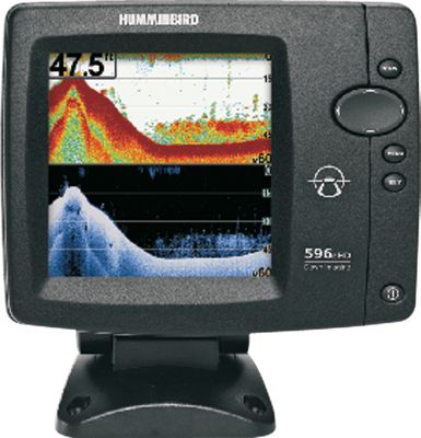 "Fishing 5"", high-definition, 640x640-pixel color display Picture-like Down Scan Imaging sonar images See fish and structure in conventional 2-D format Single 20 sonar cone with SwitchFire 55deg and 86deg Down Scan Imaging coverage 4,000-watt peak-to-peak power output 500-watt RMS Temperature included One-year warranty - $359.88"