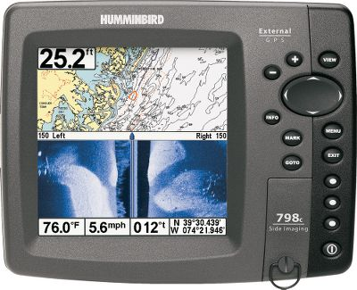 Fishing Whether you're a tournament pro or die-hard recreational angler, Humminbird's new bonded glass screen provides superior clarity for easy readability, even in the sunlight. The HD side imaging will help you get the most out of your time on the water by delivering 180 sonar coverage up to 480 ft. side-to-side. 798c SI features a crystal-clear, brilliant color TFT display and DualBeam PLUS sonar for super-sharp sonar detail of fish and bottom structures. With a WAAS-enabled GPS receiver, the unit allows you to tap into powerful chart-plotting capabilities and pre-loaded maps to get you out to where the big schools and large fish bite. Expand the unit's performance by adding Humminbird Fishing System modules such as InterLink or XM NavWeather. Optional Navionics bundle offering includes pre-loaded Navionics Gold and HotMaps Premium charts. In-dash mountable. Dual SD card slots. Three soft key presets. Internal GPS. Available: With or without Navionics bundle. - $999.99