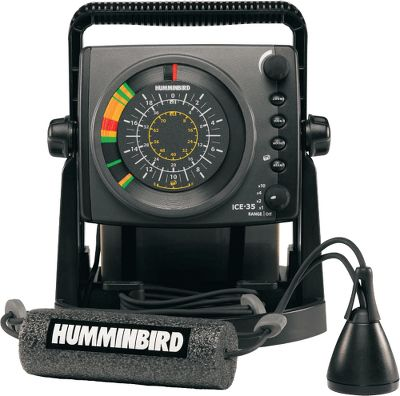 Fishing Humminbird's long-awaited entry into ice-fishing grabbed the attention of everyone who fishes on hard water with its new line of fiber-optic ICE flashers. Features include 800 watts of peak-to-peak power, a 455 kHz/19 and 240 kHz/9 dual-beam transducer, 10-step interference rejection, four control buttons including zoom, gain, noise and beam, four depth scales at 20', 40', 80' and 200', a 7 amp-hour battery, built-in battery status indicator, shuttle mount for your boat or sled, built-in gimbal bracket and a two-year warranty. - $299.99