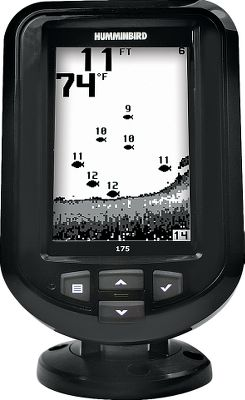 Fishing One touch is all it takes to get easy access to the advanced features of this fish finder Fish ID+, fish and depth alarms, zoom and more. Easy-to-use interface makes all these functions simple, clear and easy to see, even in sunlight. Use as a drop-in replacement for many factory-installed in-dash-mounted fish finders. Features a tilt-mount base and has a depth capability of 600 feet. 4, 240V x 160H 16-level grayscale screen. 1,600-watt peak-to-peak power. Dual-Beam transducer 200kHz/28, 455kHz/16. Color: Clear. - $99.99