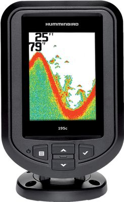 Fishing One touch is all it takes to get easy access to the advanced features of this fish finder Fish ID+, fish and depth alarms, zoom and more. Easy-to-use interface makes all these functions simple, clear and easy to see, even in sunlight. Use as a drop-in replacement for many factory-installed in-dash-mounted fish finders. Features a tilt-mount base and has a depth capability of 600 feet. 3.5, 320V x 240H 256-color screen. 1,600-watt peak-to-peak power. Dual-Beam transducer 200kHz/28, 455kHz/16. Color: Clear. - $124.88