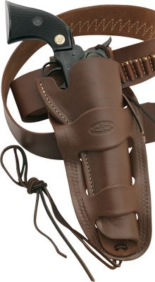 This holster is modeled after the authentic Mexican double-loop holster and crafted from the richest leather. Keep your single-action revolver secure in this classic-looking holster. Belt not included. Made in USA. Gender: Male. Age Group: Kids. Type: Cowboy. - $64.99