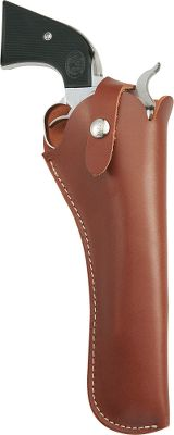 Made of sturdy top-grain vegetable-tanned leather, the Versa Fit Holster features an adjustable retention strap that can be shortened and lengthened for use with a variety of handguns. Rear sight guard and interior snap protect your handguns finish. Right hand only. Made in USA. Type: Traditional. - $39.99