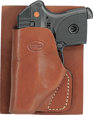 Entertainment Conformed-to-fit, compact and comfortable design of the Hunter Pocket/Wallet Holster conceals your small automatic by giving it the shape of a wallet. Made of genuine leather. Rugged stitching. Made in USA. Type: Concealed Carry. - $17.88