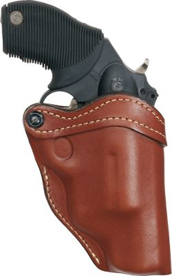 Substantial full-grain leather is molded specifically to your Glock 42 for a precise fit. The tension draw screw adjustment at the trigger guard can be tightened for a secure hold or loosened for a quicker draw. Edges are burnished for a smooth finish. Open-top design. Made in USA. Type: Concealed Carry. - $69.99