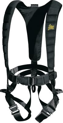Hunting All the comfort, safety and adjustability youve come to expect from Hunter Safety System products in an extremely lightweight, easy-to-use harness. It comes with HSS Linemans Climbing Strap, saving you $25 over buying one separately. Loop adjustments make it easy to fit over early-season or bulky cold-weather clothing with no dangling straps. Saddle-style leg strap offers added safety in the event of a fall and more comfort while in the stand. Quiet, rubber-coated leg-strap buckles are stronger and smaller than previous styles. Padded waist, shoulder and back straps. Compatible with all Hunter Safety System accessories. Tested to TMA Standards.Harness wt: 2.5 lbs.Sizes:S/M, Wt. capacity: 100 - 175 lbs.L/XL, Wt. capacity: 175 - 250 lbs.2XL/3XL, Wt. capacity: 250 - 300 lbs.A Video Public Service Announcement from theTREESTAND MANUFACTURERS ASSOCIATION Type: Full-Body Harnesses. L/Xl. - $39.99