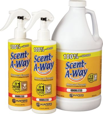 Hunting Advanced formula is a powerful, fast-acting, total scent-neutralizing agent that destroys the cause of odors on contact. Available: 32-oz. with two free 12-oz. spray bottles. - $14.99