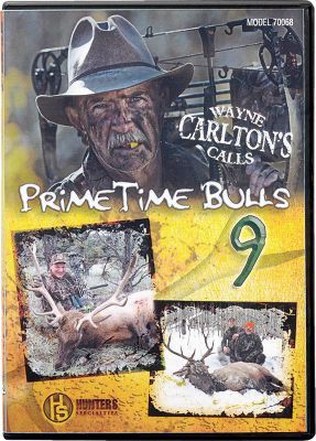 Hunting Follow the Hunters Specialties pro staff after big bulls with these great videos. Available: In PrimeTime Bulls 9 Go with Pro-Staff members Wayne Carlton, Dieter Kaboth and others as they deliver 18 jaw-dropping elk hunts across the West. Includes a Carlton decal. 120 minutes. In PrimeTime Bulls 8 Besides 25 hunts, theres bonus footage on the evolution of elk calling over the last 25 years. Hunts include 16 bow, three rifle and six muzzleloader. 120 minutes. - $10.39