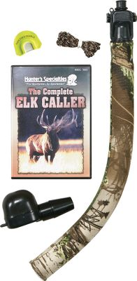 Hunting Beginners to seasoned veterans can use this easy-to-use Mac Daddy bugle call. Makes authentic bugles and nasally cow calls. Baffle tones down volume for close-in calling. Includes camo cover, Carlton's Estrus Squeeze Me call, double-reed diaphragm, The Complete Elk Caller DVD and instructional DVD. - $39.88