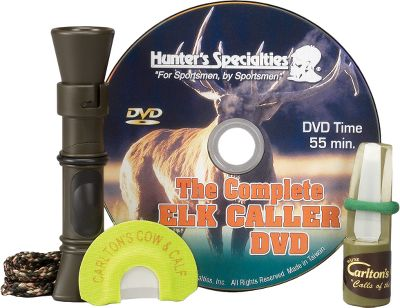 Hunting Includes all the elk calls you could ever need. Includes the Bull Hooker Cow call, Fight'n Cow call and the Carlton's Supreme Cow and Calf call with Infinity Latex and instructional DVD. - $24.88