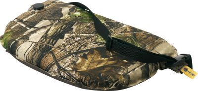 Hunting This self-inflating, water-resistant seat cushion will save your tail end from rough rocks and cold ground. Inflate, adjust or deflate simply with the unique valve system. Great for turkey hunting, for use in a blind or as a little extra padding on your treestand seat. Adjustable elastic strap with snap closure for easy transport.Weight: 8 oz.Camo pattern: Realtree APG. Type: Cushions. - $15.99