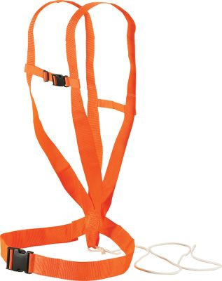 Hunting This Deluxe Deer Drag system will take a lot of the hassle out of dragging your animal from the field back to camp or a nearby road. Durable safety orange body harness frees arms and hands. Includes shoulder straps and waist belt for better weight distribution. Includes rope. Color: Orange. - $9.99