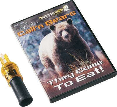 Hunting Effective call for bears and other predators. Features optional tone slots that allow you to produce a wide range of sounds and calls. Includes an external reed bear call and instructional CD. - $21.99
